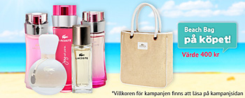 Lacoste - beach bag på köpet!