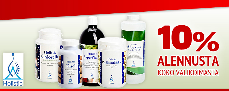 10% alennusta Holistic-tuotteista!