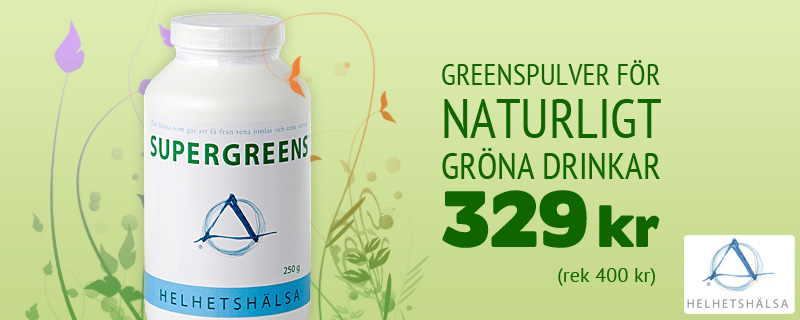 SuperGreens Nu 329 kr(rek 400 kr)