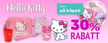 Hello Kitty 30% rabatt + gåva på köpet!