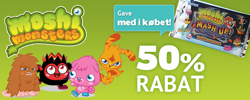 Moshi Monsters 50% rabat + få gave med i købet!