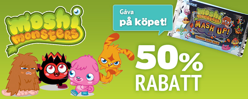 Moshi Monsters 50% rabatt + gåva på köpet!