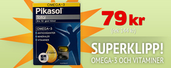 SUPERKLIPP! Pikasol Total 79 kr (rek 144 kr)