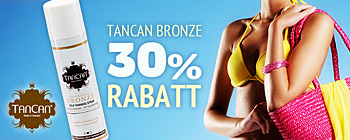 TanCan Bronze - 30% rabatt!