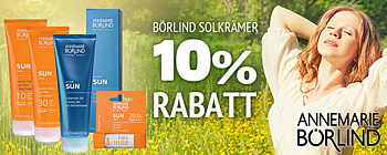 Brlind solcremer 10% rabatt!