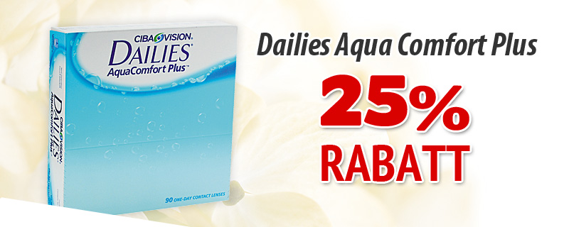 25% rabatt p Dailies AquaComfort Plus 90p!