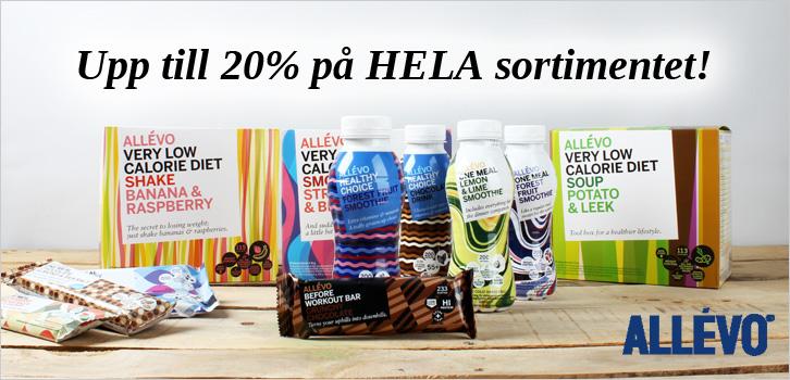 20% rabatt på HELA sortimentet från Allevo!