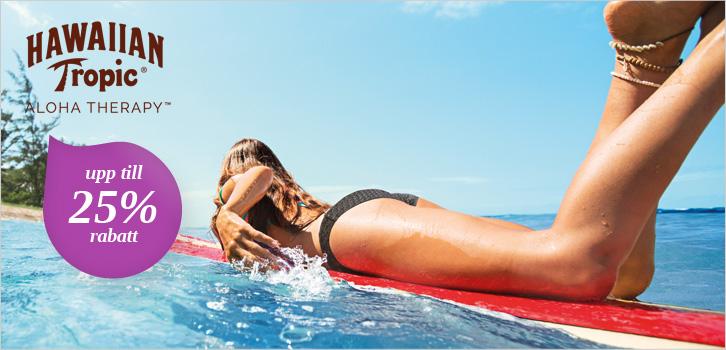 Hawaiian Tropic - Upp till 25% rabatt!