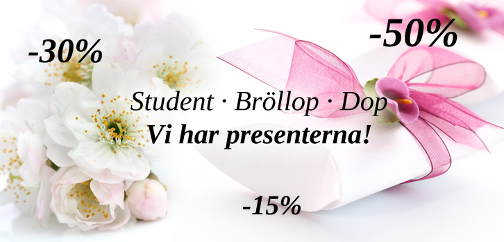 Student, Bröllop & Doppresenter!