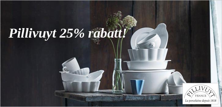 25% rabatt på Pillivuyt!