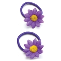09032 Fantasy Flower Purple Hair Elastic