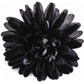 05307 Black Flower Duck Clip / Brooch