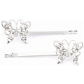 05311 Rhinestone Butterfly Hair Pin Set