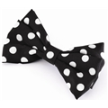 05315 Black & White Bow Duck Clip