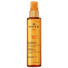 Nuxe SUN Tanning Oil for Face and Body SPF 10