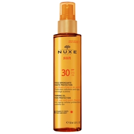 Nuxe SUN Tanning Oil for Face and Body SPF 30