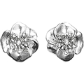 Silver Plated Crystal Flower Earrings