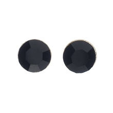 Silver Plated Round Stud Earrings 1 set