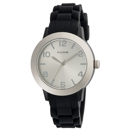 70151-6102 Watch Silver Plated / Black