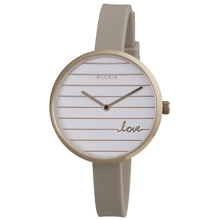 Striped Love Silicone Watch