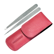 Petite Tweeze Set With Pink Case