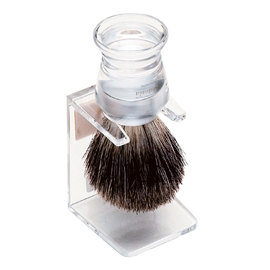 Shaving Brush Stand Clear
