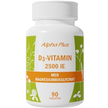 90 tabletter - D3-vitamin 2500IE
