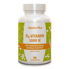 MerVital D3-vitamin chew 1000IE