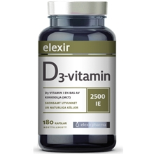 D3-vitamin 2500 IE 180 kapslar