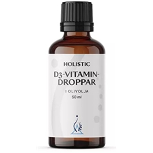 D3-vitamin droppar i olivolja 50 ml
