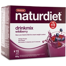 15 portioner - Wild Berry - Naturdiet drinkmix