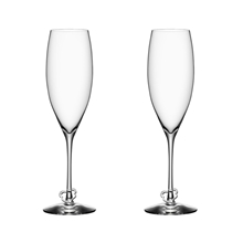 Crazy Heart Champagneglas 2-pack