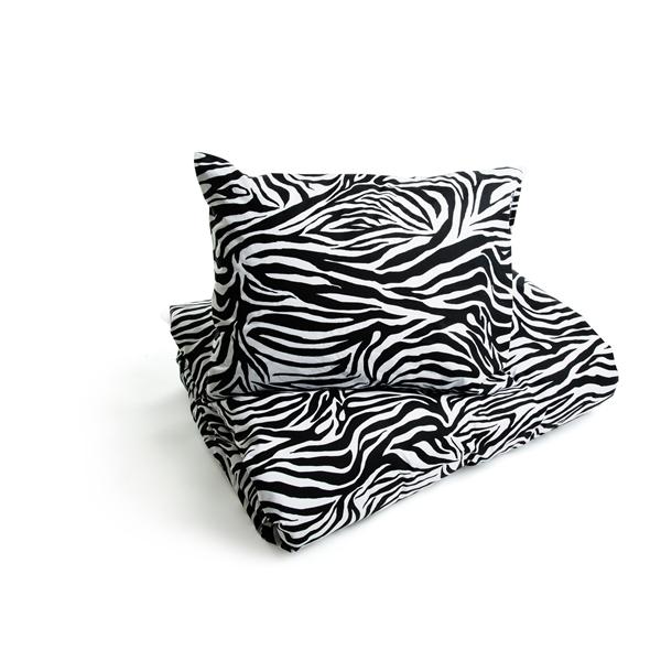 Bäddset Zebra Lakan Queen Anne Shopping4net