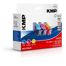 KMP - C74V - CLI-521C/M/Y Value Pack  1510.0005