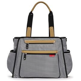 Skip Hop Skötväska Grand Central Black Stripe