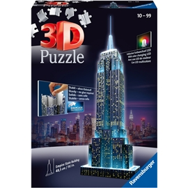 Pusselbyggnad 3D - Empire State Building LED