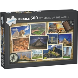 Pussel 500 Bitar Wonders of The World