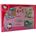 Hello Kitty Pussel + Spel 4 i 1