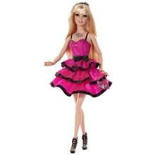 Barbie Style Doll - Rosa Klänning Blond