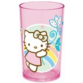 Hello Kitty Glas Rosa Regnbåge