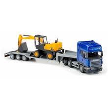 Scania Topline Low Loader & Excavator