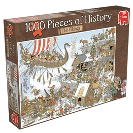 Pussel 1000 Bitar Pieces of History The Vikings