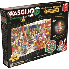 Wasgij Christmas Pussel #10 The Mystery Shopper