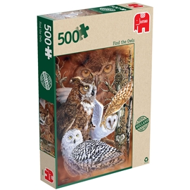 Pussel 500 Bitar Find the Owls