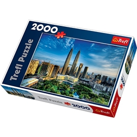 Pussel 2000 Bitar Petronas twin towers