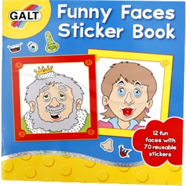 Funny Faces Sticker Book - Pysselböcker - Galt | Shopping4net