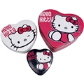 Hello Kitty Hjärtburkar 3-pack