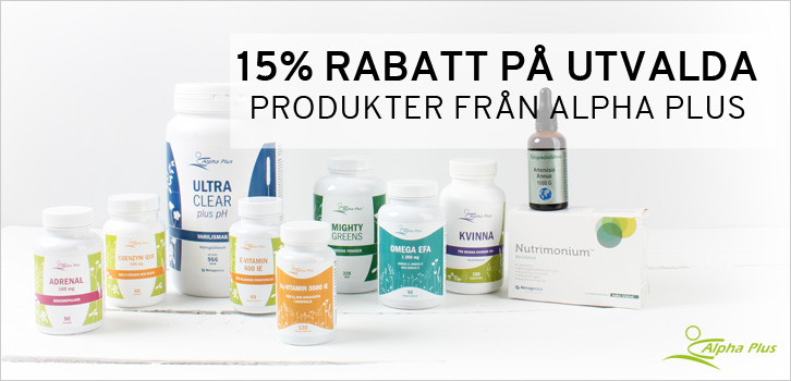 Alpha Plus - 15% rabatt!
