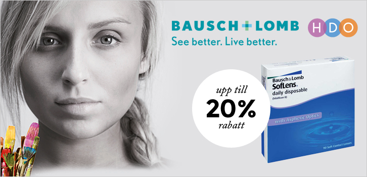 Upp till 20 % rabatt på SofLens daily disposable