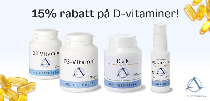 D-vitaminer - 15% rabatt!